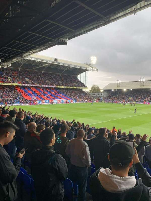 Selhurst Park, section: U, row: 18, seat: 88