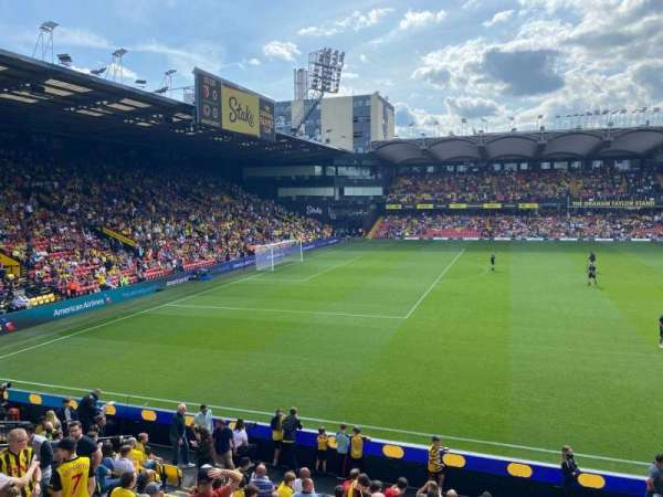 Vicarage Road, section: SEJ2, row: H, seat: 44