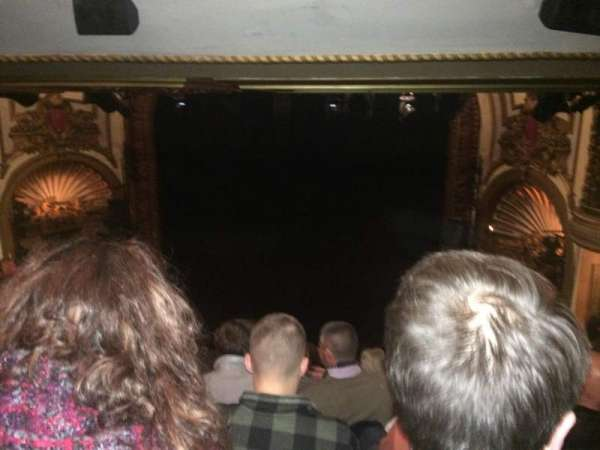 Palace Theatre (Broadway), section: Rear Center Mez, row: M, seat: 124