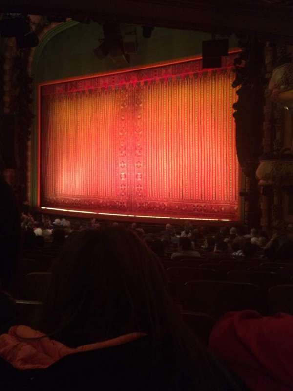New Amsterdam Theatre, section: Orchestra R, row: S, seat: 20