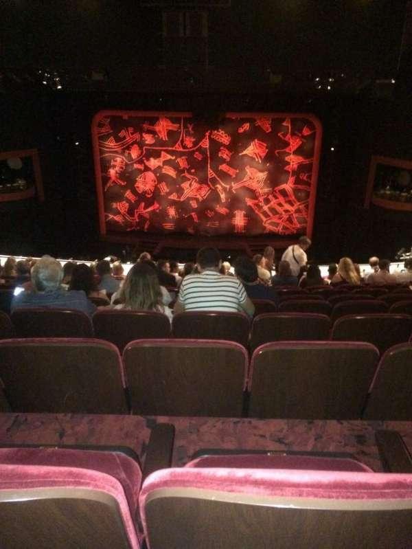 Minskoff Theatre, section: Mezzanine, row: L, seat: 132