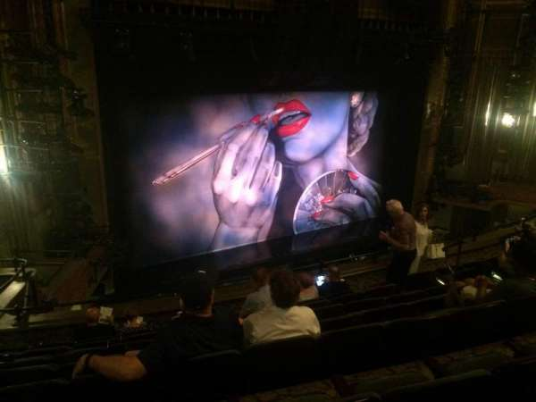 Nederlander Theatre, section: Mezzanine L, row: H, seat: 19