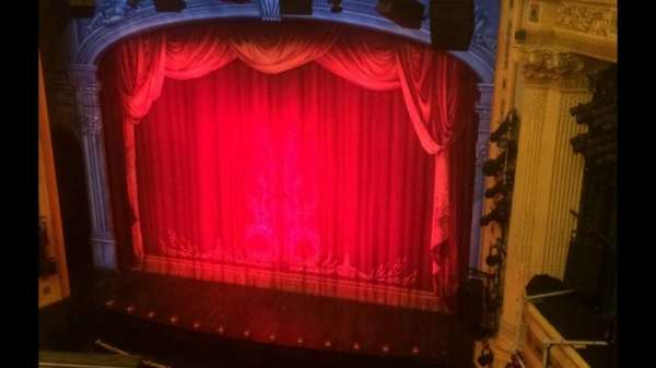 Hudson Theatre, section: Balcony R, row: B, seat: 2