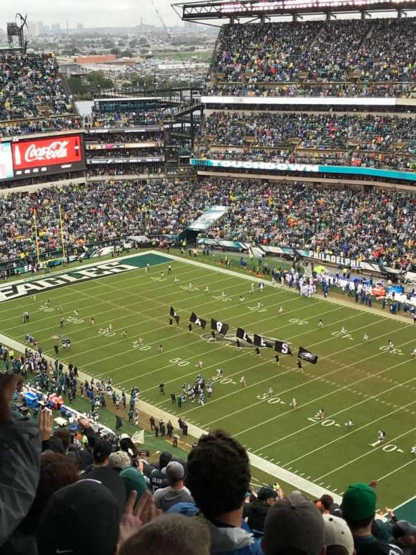 Lincoln financial Field, section: 207, row: 30, seat: 16
