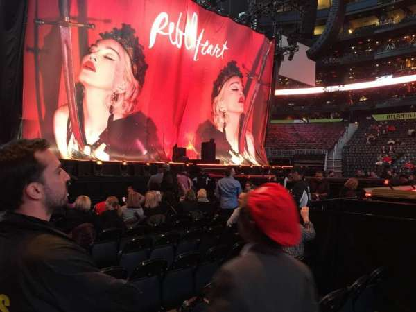 State Farm Arena, section: 120, row: A, seat: 4