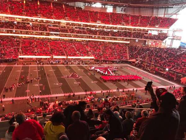 Mercedes-Benz Stadium, section: 213, row: 10, seat: 9