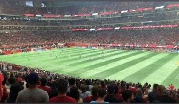 Mercedes-Benz Stadium, section: 107, row: 36, seat: 1