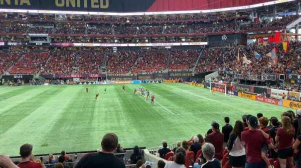 Mercedes-Benz Stadium, section: C108, row: 13, seat: 1-4