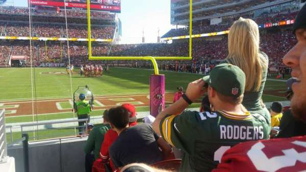 Levi's Stadium, section: 103, row: 3, seat: 22