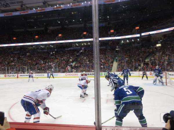 Rogers Arena, section: 115, row: 2, seat: 109