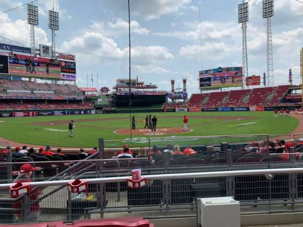 Great American Ball Park, section: 22, row: C, seat: 1