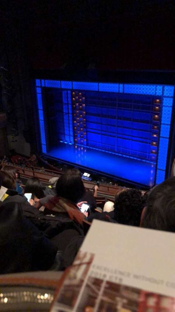 Stephen Sondheim Theatre, section: Mezzanine R, row: GG