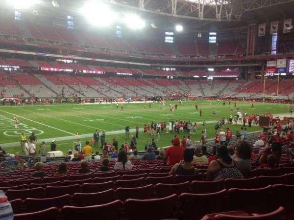 State Farm Stadium, section: 135, row: 21, seat: 18