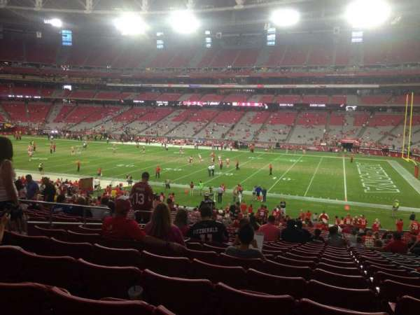 State Farm Stadium, section: 125, row: 36, seat: 37