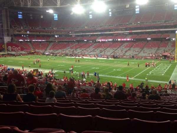 State Farm Stadium, section: 124, row: 36, seat: 11