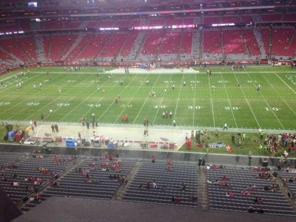 University of Phoenix Stadium, section: 410, row: A, seat: 18