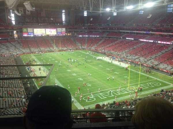 State Farm Stadium, section: 401, row: 2, seat: 9