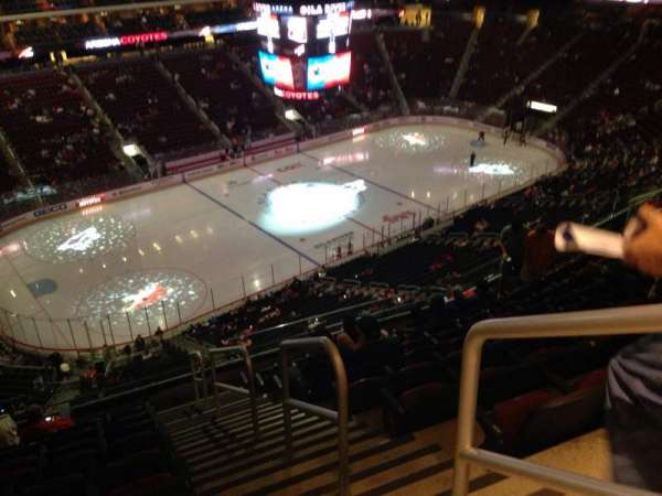 Gila River Arena, section: 219, row: J, seat: 1