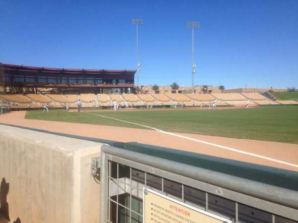 Camelback Ranch, section: 1, row: 1, seat: 1