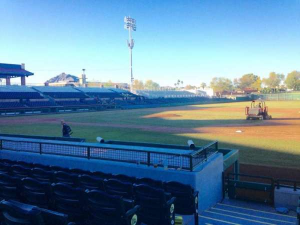 Scottsdale Stadium, section: 118, row: H, seat: 1