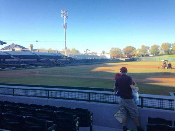 Scottsdale Stadium, section: 116, row: H, seat: 1