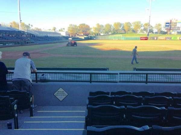 Scottsdale Stadium, section: 112, row: H, seat: 1