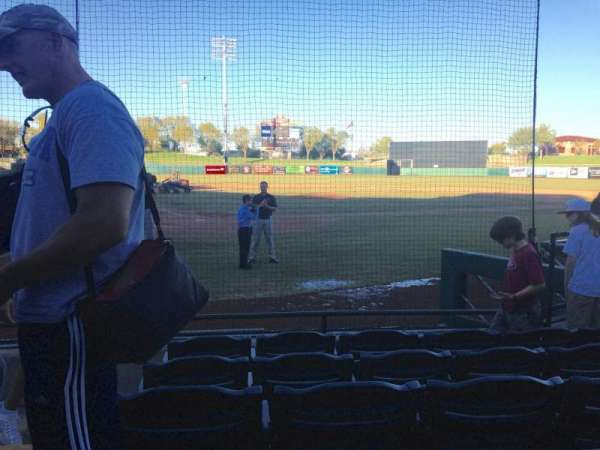 Scottsdale Stadium, section: 106, row: F, seat: 1