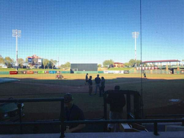 Scottsdale Stadium, section: 102, row: F, seat: 1