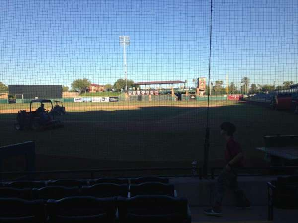 Scottsdale Stadium, section: 105, row: F, seat: 1