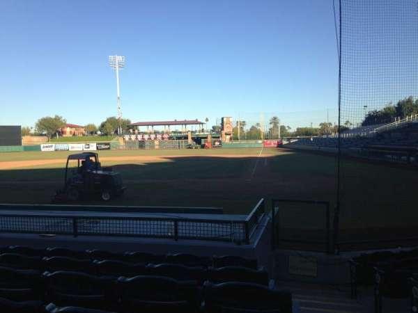 Scottsdale Stadium, section: 107, row: H, seat: 1