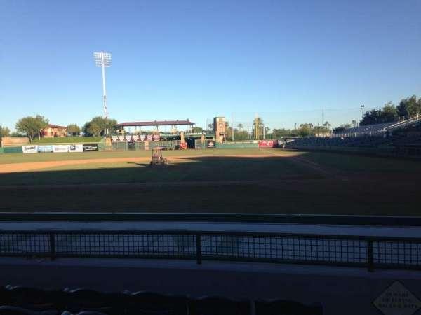 Scottsdale Stadium, section: 109, row: H, seat: 1