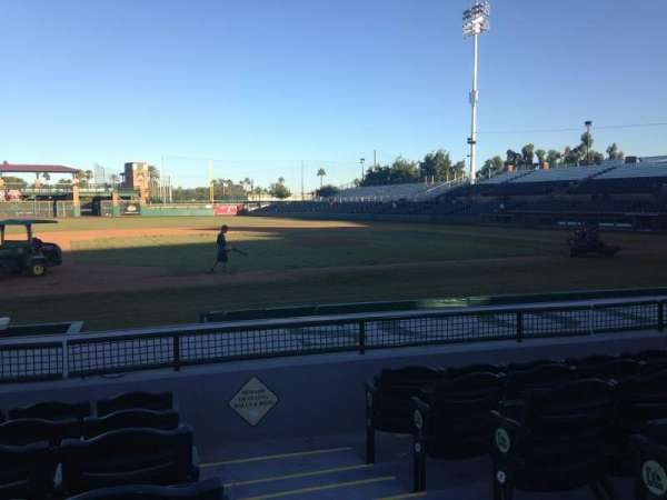 Scottsdale Stadium, section: 115, row: H, seat: 1