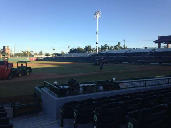 Scottsdale Stadium, section: 117, row: H, seat: 1