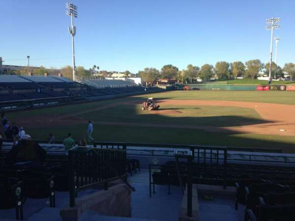 Scottsdale Stadium, section: 312, row: 1, seat: 1