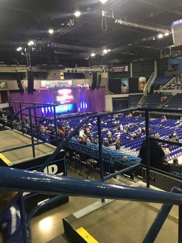 BMO Harris Bank Center, section: 220, row: CC, seat: 2
