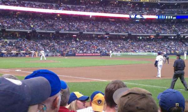 Miller Park, section: 110, row: 6, seat: 11