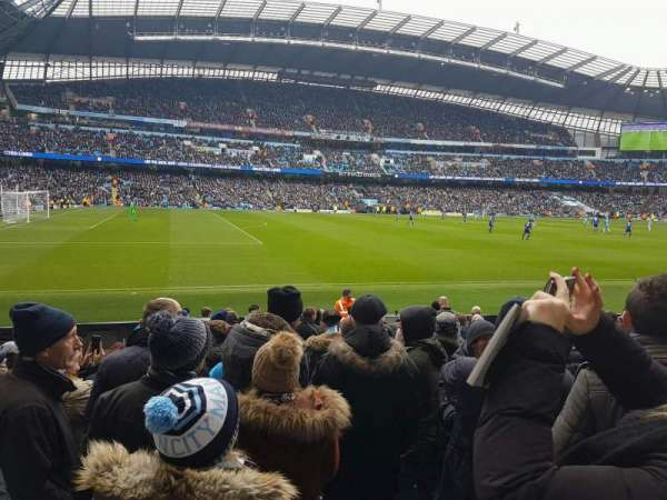 Etihad Stadium (Manchester), section: 109, row: L, seat: 201