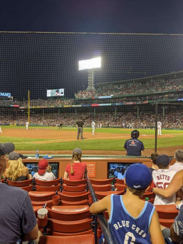 Fenway Park, section: Field Box 73, row: C, seat: 1