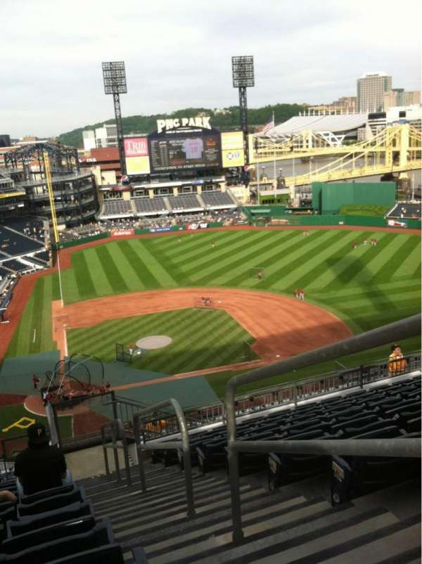 PNC Park, section: 312, row: S, seat: 1