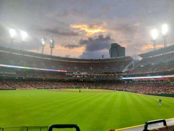 Great American Ball Park, section: 101, row: F, seat: 10