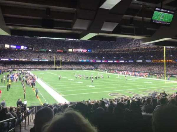 Caesars Superdome, section: 132, row: 22, seat: 6