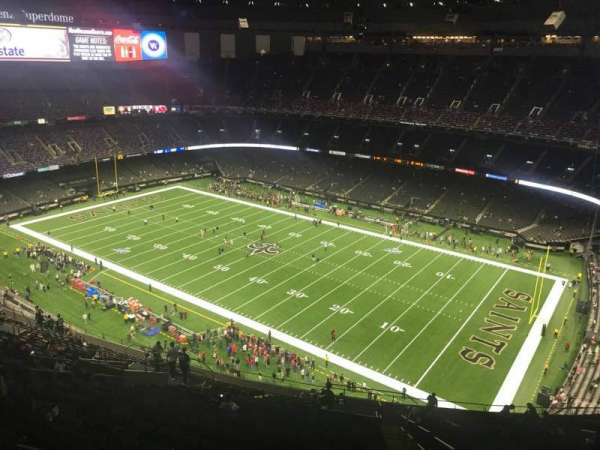 Caesars Superdome, section: 609, row: 30, seat: 1