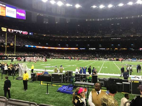 Caesars Superdome, section: 143, row: 1, seat: 5