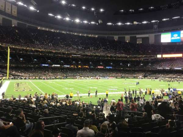 Caesars Superdome, section: 147, row: 23, seat: 15