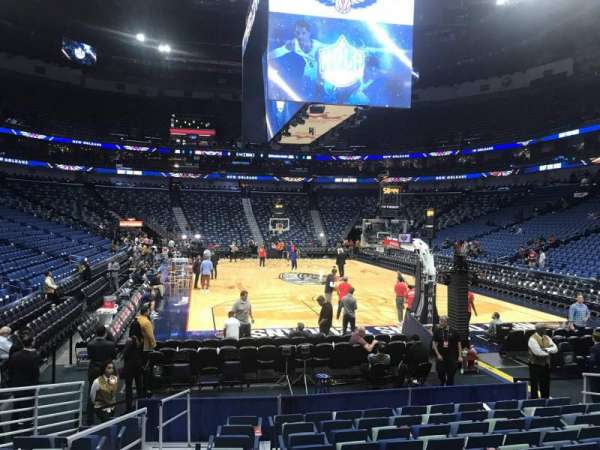 Smoothie King Center, section: 107, row: 10, seat: 12