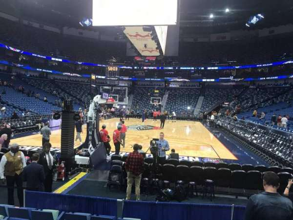 Smoothie King Center, section: 106, row: 6, seat: 5