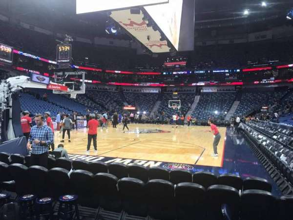 Smoothie King Center, section: 105, row: 1, seat: 1