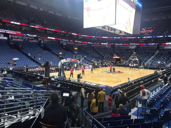 Smoothie King Center, section: 104, row: 13, seat: 9