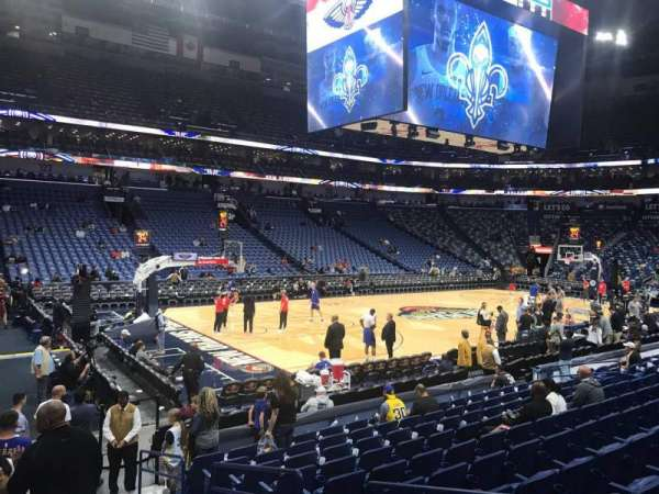 Smoothie King Center, section: 115, row: 14, seat: 4