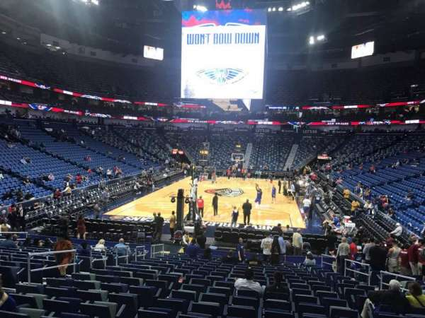 Smoothie King Center, section: 118, row: 19, seat: 8